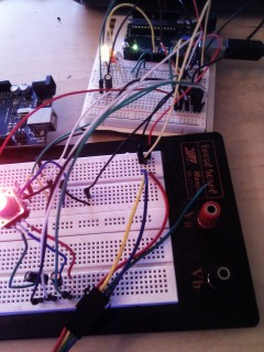 Testing the ATTiny with a rotary encoder button